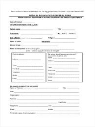 Referral Form Template Word Medical Referral Form 8 Free Documents In Word Pdf