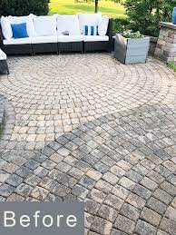 paver patio and concrete surfaces