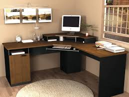 wood home office desks. Amazon.com: Corner Work Station In Sand Granite \u0026 Charcoal (Tuscany Brown Black): Kitchen Dining Wood Home Office Desks