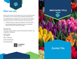 Booklet Word Template Booklet