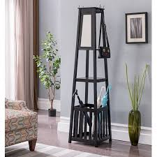 Black Wood Coat Rack Best Kendall Black Wood Contemporary Entryway Hall Tree Coat Rack Stand