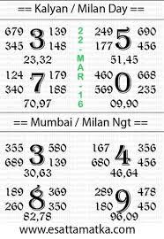 Lucky Chart Satta Matka Kaly An Matka Panditji Lucky No Chart 22