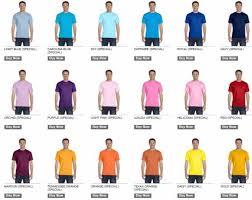 Gildan G8000 Color Chart 77 Unexpected Gildan Dryblend T Shirt Color Chart