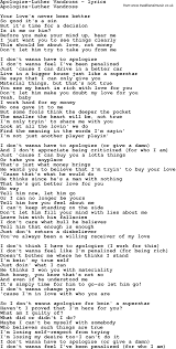 Love Lyrics Quotes Love Song Lyrics Luther Vandross