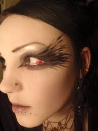 crow inspired make up by parasitichumanity