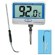 digital thermometer chemistry. digi-sense traceable® remote probe digital thermometer with calibration; extra long, waterproof chemistry r