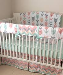 elephant crib bedding lovely deposit peach gray c and mint arrows crib bedding set option