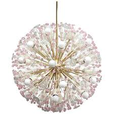 pink crystal chandelier huge soft pink crystal glass starburst chandelier by from a unique collection of pink crystal chandelier