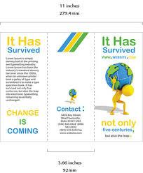 4 Sided Brochure Template 6 Sided Brochure Template Csoforum Info