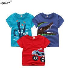<b>Baby Boys T</b> Shirt Cotton Tops Tees For <b>Boy Cartoon</b> Car Print <b>Kids</b> ...