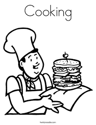 Small Picture Cooking Coloring Page Twisty Noodle