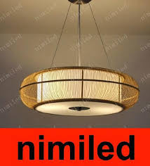 nimi380 dia 46cm 56cm modern japanese dining room lamp droplight pendant lamps bamboo chandelier garden lighting lights living room light designer pendant
