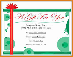Free Gift Voucher Template For Word 10 Free Gift Certificate Template For Word Quick Askips