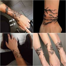 эскизы тату браслет на руке для девушек цветы узоры рукава 35