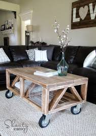 coffee table diy diy and ana white pertaining to with wheels design 14
