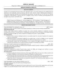 Resume Examples Financial Analyst Examples Of Resumes