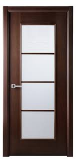 Sensational Glass Panels Modern Interior Doors With Brown Wooden