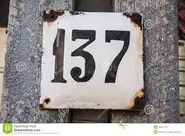 Número 137 imagen de archivo. Imagen de umbral, knocking - 46054743