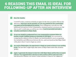 Sample Follow Up Email After Interview Making Moves 10 How To Write