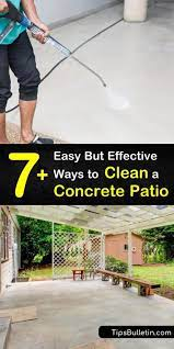 to clean a concrete patio