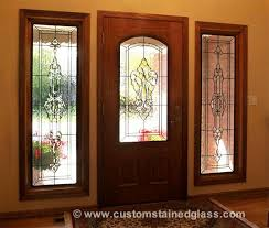 custom stained glass entry door