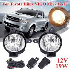 Toyota Hilux Fog Light Switch Pair H16 12v 19w Front Fog Lights With Wiring With Switch Kit For Toyota Hilux Vigo Mk7 2012 2013 2014 2015 2016 2017