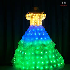 Wedding Dress With Lights Multicolor Change Led Wedding Dress For Kids Princess Dress With Led Lights Skirt Buy Led Skirt Led Wedding Dress Kids Princess Dress With Led