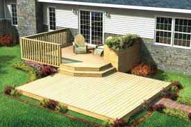 Wood Patio Designs Decor Backyard Deck Ideas With Patio Furniture And Planters Also