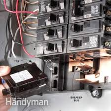 breaker box safety how to connect a new circuit family handyman breaker box wiring neutral or ground at Circuit Box Wiring