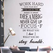 inspirational office pictures. Work Hard Stay Humble Inspirational Quotes Vinyl Sticker For Office Decor - Iwallsticker.com Pictures