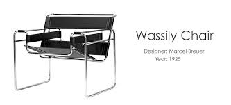 famous furniture design. Wassily Chair - Famous Furniture Design