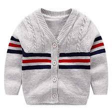 Amazon.com: BAVST <b>Baby</b> Button-up <b>Cardigan</b> V-Neck Knit ...