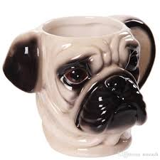 creative dog gift cute 3d pug dog head shaped ceramic mug tea coffee cup personalized gifts coffee mugs personalized gifts mugs from saveach