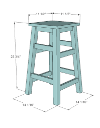 Simplest Stool  Make The Legs Any Size You Need For Space Bar Stool Sizes S5