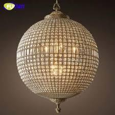 fumat modern led chandeliers american vintage crystal ball lamp for living room dining room bar art