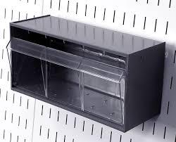 Pegboard storage bins Bin Cabinet Pegboard Tip Out Bin Tuhealth247info Tip Out Bins Slotted Pegboard Plastic Hanging Bin Wall Control