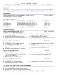 Nursing Student Resume Sample Nursing Student Resume Sample Guide For New Rn Grads Skills
