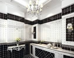 image of best black and white bathroom wall décor