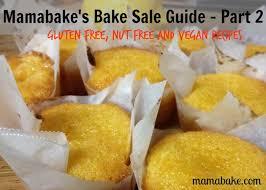 Vegan Bake Sale Recipes Mamabakes Bake Sale Guide Allergy Friendly Recipes Mamabake