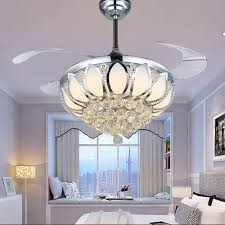 fascinating ceiling fan crystal chandelier best way to make your inside beautiful ceiling fans regarding your house