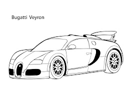 Super Car Buggati Veyron Coloring Page