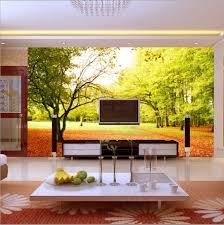 Living Room Furniture Free Shipping Aliexpresscom Buy Free Shipping Natural Scenery Wallpaper Tv
