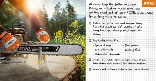 Stihl Bar Chart Checklist Proper Chainsaw Maintenance Stihl Blog
