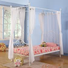 Interesting Twin Size Canopy Bed Curtains Pictures Decoration - Blue ...