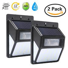 yiokmty 35 led solar motion security light outdoor wireless waterproof 3 side illumination wall lights