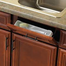 real solutions for real life 11 in white sink front tray with scissor hinges cabinet