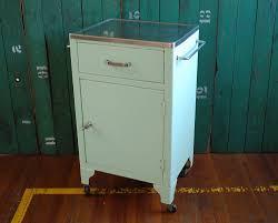 Antique Metal Dental Cabinet Midcentury Medical Cabinet Stainless Steel Top