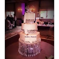 wedding crystal cake stand triple tier crystal wedding cake stand regarding elegant residence chandelier cake stands designs