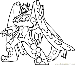 Small Picture Zygarde Complete Forme Pokemon Sun and Moon Coloring Page Free