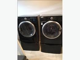 maytag epic z dryer. Perfect Dryer Maytag Epic Z  BLACK Front Loader Washer U0026 Dryer With Pedastals Intended